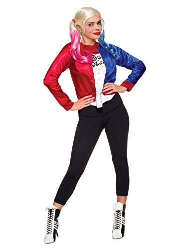 Suicide Costume Squad Harley (Rubie's Costume Co. Women's Suicide Squad Harley Quinn Costume Kit, As Shown,)