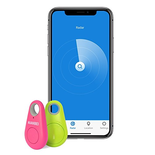 NIANBEI Tracker Smart Finder Bluetooth Tracker Wireless Anti-lost Alarm Tag Remote Selfie Shutter Seeker For Bags Wallet Keys Work on iPhone Android 2pcs Random Color by NIANBEI (Image #1)