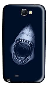Shark Jaws Polycarbonate Hard Case Cover for Samsung Galaxy Note II N7100