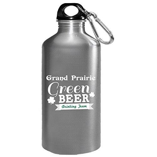 Grand Prairie Green Beer Drinking Team, St Patricks Day - Water Bottle (Lights Prairie Christmas Grand)