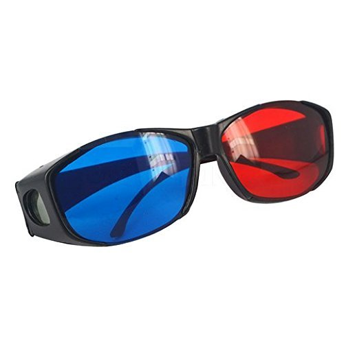 1PCS Retail Plastic 3D Glasses TV Movie Dimensional Anaglyph Projector Framed 3D Visionl type