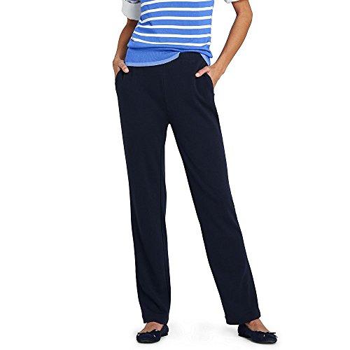 Lands' End Women's Sport Knit Pants, M, Classic Navy Classic Knit Sweatpants