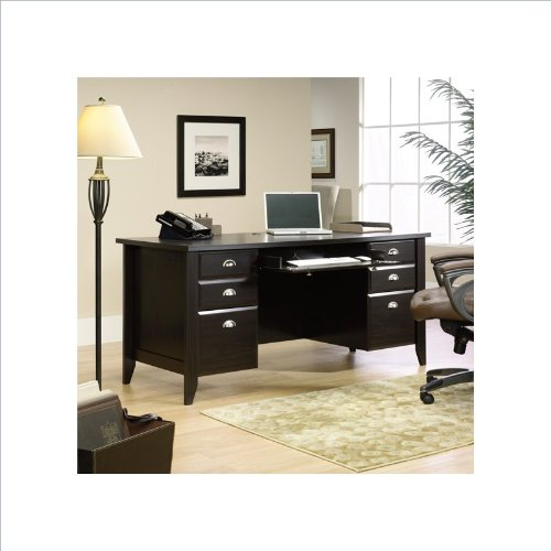 Sauder Shoal Creek Executive Desk, Jamocha Wood