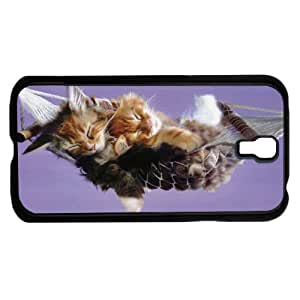 Two Kittens Sleeping in Hammock Wih Lilac Purple Background Hard Snap on Phone Case (Galaxy s4 IV)