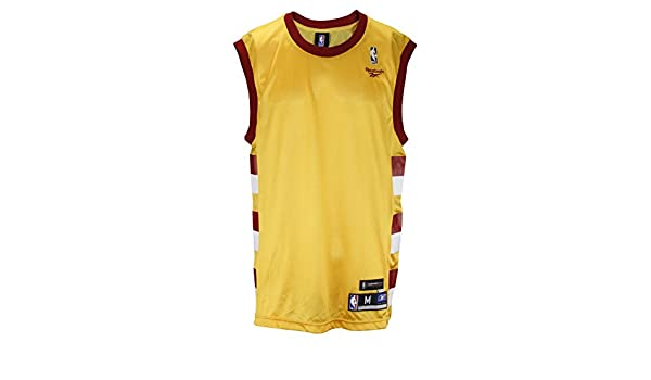 Amazon.com : NBA Retro Hardwood Classics Style Blank Jersey, Gold & Maroon (Large) : Sports & Outdoors