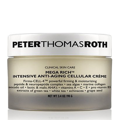 Peter Thomas Roth Cosmetics Mega-Rich Intensive Anti-Aging Cellular Creme and Cellular Eye Cream Bundle With Aloe Vera, Avocado Oil, Vitamin C E and A, Sea Alga, Green and White Tea, 3.4 oz and 0.7 oz