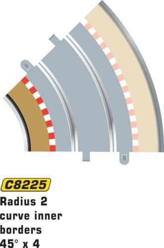 Scalextric C8225 Borders Tan Inner Radius - 45 (Radius Border)