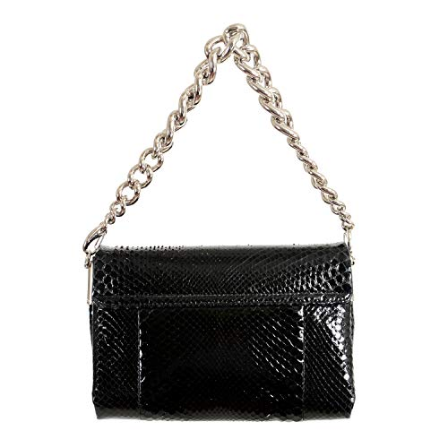 Versace 100% Python Skin Black Women's Handbag Shoulder Bag