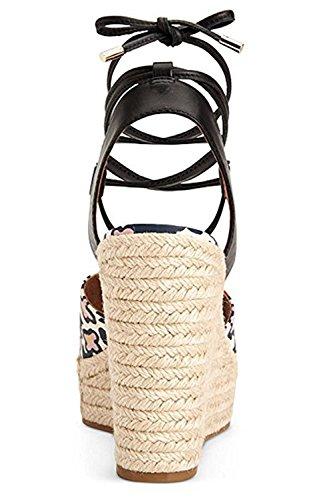 Entraîneur Dana Chalk Corail Wedge Sandale Taille: 5.5m