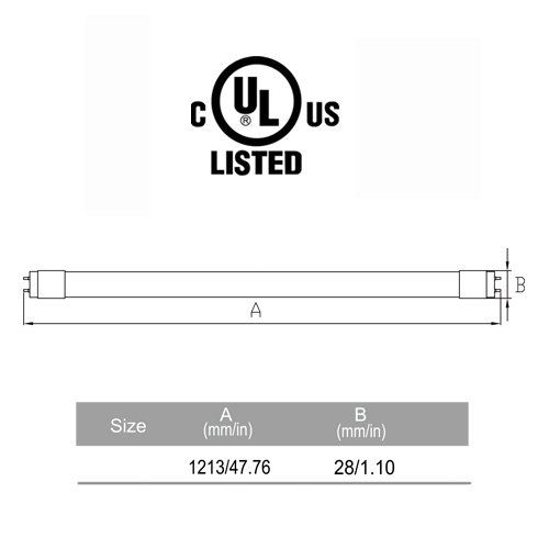 HL 25 Pack of T8 LED Fluorescent Tube Light, 4ft 48'' Frosted Cover, 16W (36W equivalent), 4000K (Natural White), Single Ended Power, G13 Lighting Fixture, UL Listed by HL (Image #4)
