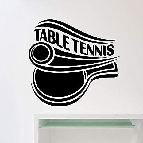 Cartel de tenis de mesa, calcomanía de pared, deportes, Ping Pong, puerta, ventana, vinilo, pegatina, decoración de interiores, dormitorio adolescente, mural de estadio