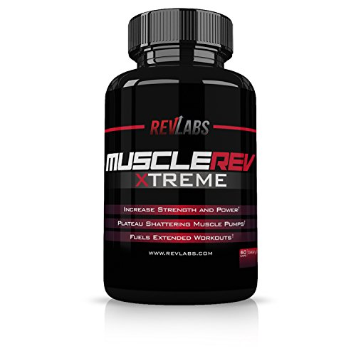 Amplifier Muscle Pump (RevLabs MuscleRev Xtreme -Premium Nitric Oxide Supplement -Build Muscle and Strength while Boosting Blood Flow, Stamina and Endurance-Stimulant Free Pre-Workout Amplifier-30 Servings)