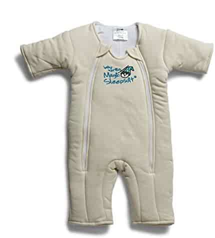 Baby Merlin's Magic Sleepsuit - Swaddle Transition Product - Cotton - Cream - 3-6 Months