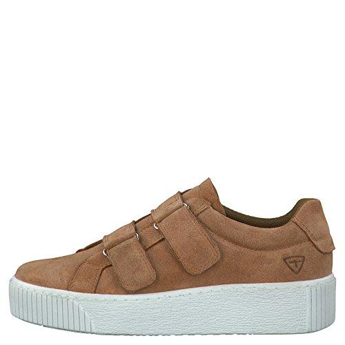 Tamaris Schuhe 1-1-24661-38 bequeme Damen Slipper, Slip On, Halbschuhe, Sommerschuhe für modebewusste Frau, Antelope