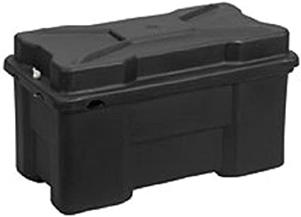 One 4D Battery, 23.63 x 12.5 x 14.63 Moeller Roto-Molded Marine Battery Box