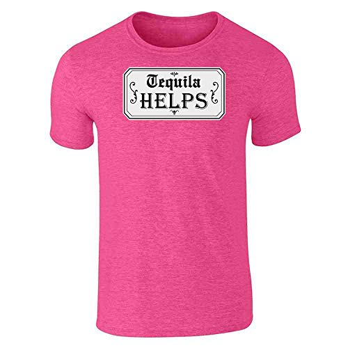 Helps Heather Pink L Short Sleeve T-Shirt ()