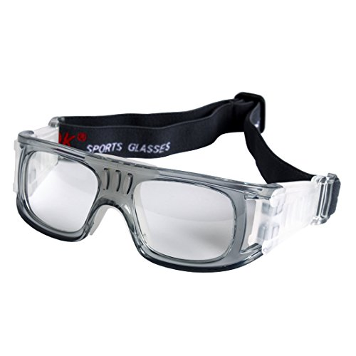 - Andux Basketball Soccer Football Sports Protective Eyewear Goggles Eye Safety Glasses LQYJ-01 (Grey)