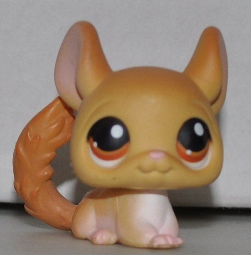 Littlest Pet Shop Collectibles - Chinchilla #340 (Gold, Brown Eyes) - Littlest Pet Shop (Retired) Collector Toy - LPS Collectible Replacement Single Figure - Loose (OOP Out of Package & Print)