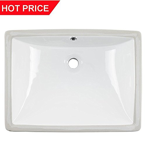 Cheap  Friho 18.5''x13.8''x7.9'' Modern Rectangular Undermount Vanity Sink Porcelain Ceramic Lavatory Bathroom Sink..