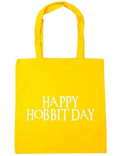 Beach Happy 10 day 42cm Tote Yellow Bag Shopping litres hobbit Gym HippoWarehouse x38cm wqUOBxYw