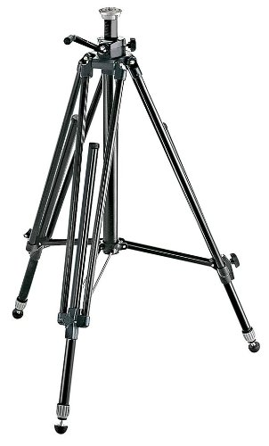 Manfrotto 028B Black Aluminum Studio Pro Triman Tripod with Geared - Monitor Manfrotto Video
