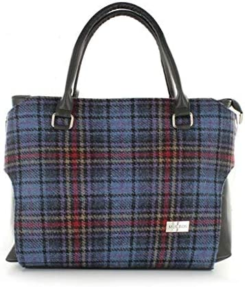 New Ladies Tartan Print Faux Leather Casual Crossbody Bag Handbag