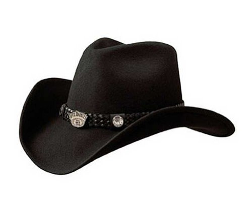 Jack Daniel's Hats Crushable Water Repellent Wool Western Cowboy Hat (Large)