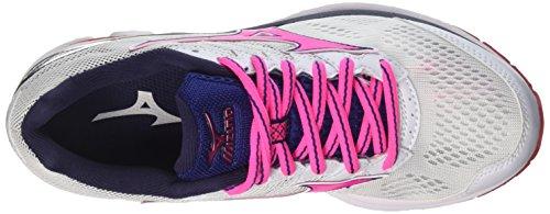 Whitepink Globlueprint Wave Running Multicolor W Mizuno Shoes Women's Rider 7w0wBZ