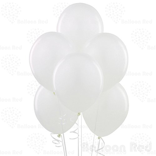 12 Inch Latex Balloons (Premium Helium Quality), Pack of 24, White