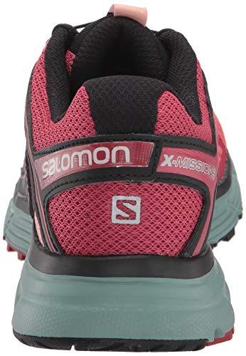 Salomon Damen Trailrunning Schuhe, X MISSION 3 W, Farbe: RosaBlau (Garnet RoseTrellisCoral Almond), Größe: 36 otQgr