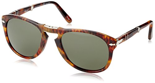 Persol Sunglasses (PO0714) Brown/Green Acetate - Polarized - - 0714 Persol