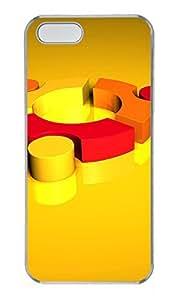 iPhone 5 5S Case 3D Yellow Orange PC Custom iPhone 5 5S Case Cover Transparent