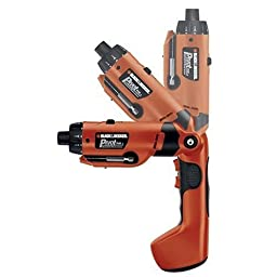 Black & Decker PD600 Pivot Plus 6-Volt Nicad Cordless Screwdriver with Articulating Head
