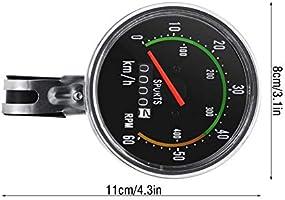 AIGGEND Cuentakilómetros de Bicicleta, velocímetro, ciclomotor de ...