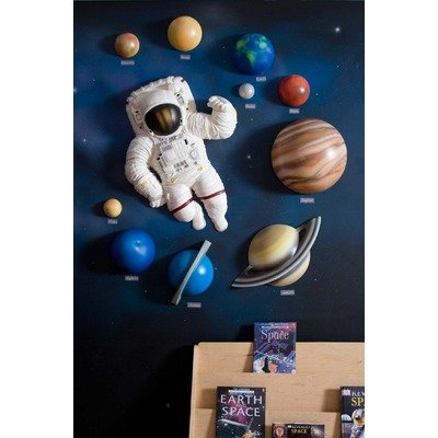 3d astronaut wall decor cartoon solar 3d wall art decor set amazoncom set kitchen dining