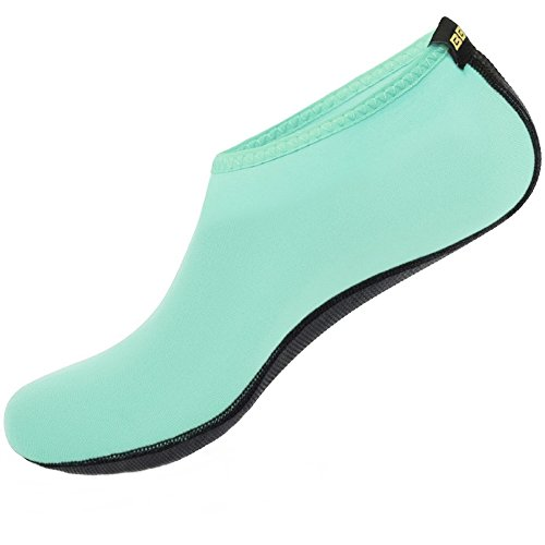 SHOESKISS Barefoot Skin Water Shoes For Womens Mens Kids Aqua Socks Surf Pool Yoga Beach Swim Exercise Mint