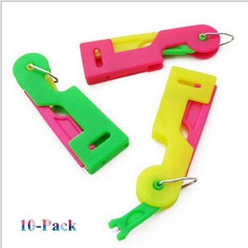 MAXGOODS Enhebrador Automática Colores Variados de Plástico Mano de Agujas Herramienta Máquina de Coser (10Pcs): Amazon.es: Hogar