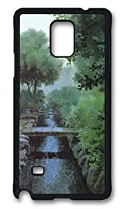 MOKSHOP Adorable Bridges water Hard Case Protective Shell Cell Phone Cover For Samsung Galaxy Note 4 - PCB