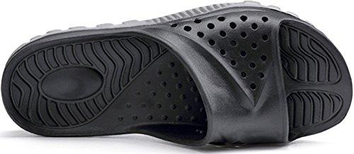 Adulti Taglia Pantofole Con Mayi Punte Extra Unisex Antiscivolo grigio Estate Massaggianti Nero Per Il Scamosciate Bagno Uomo FEnwT
