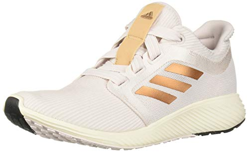 adidas Women's Edge Lux 3 Running Shoe, orchid tint/Copper Metallic/cloud White, 9 M US