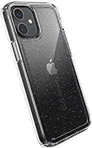 Speck Products Gemshell Glitter iPhone 12 Mini Case, Clear/Clear with Gold Glitter, 137597-9221