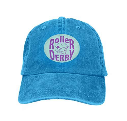 Baseball Caps Trucker Caps Bones Hip Hop Hats for Men Women Roller Derby Helmet Typography Blue