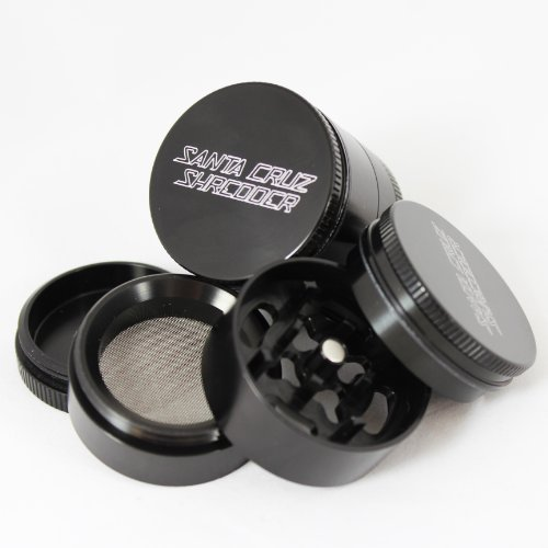 small-santa-cruz-shredder-black-4-piece-grinder-with-a-cali-crusherr-pollen-press