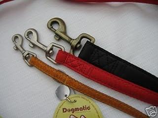 Dogmatic Laisse en cuir synthétique en relief ESL–Noir/Argent–taille XS