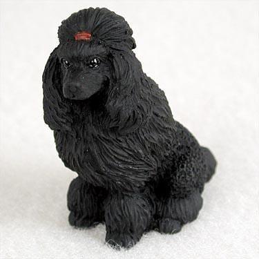 (Poodle Miniature Dog Figurine - Black)