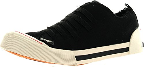 Rocket Dog Womens Joint Sneakers,Black Canvas,8.5