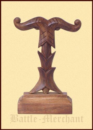 Irminsul Chain on wooden Base-Hand Carved-Weltenesche Viking Germanen Battle Merchant