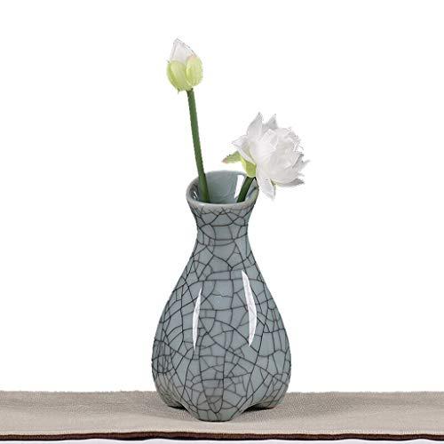 Minmin-huaping Ceramic vase Creative Living Room Decoration Home Decoration Celadon Flower Flower Water Culture Flower vase (Size : - Ceramic Celadon Vase