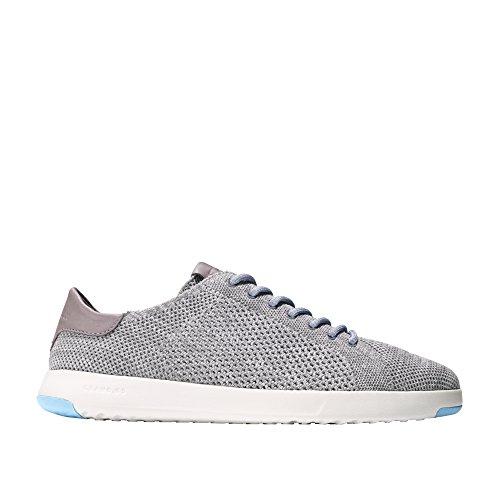 Mens Haan Cole Grandpro Tennis Stitchlite Sneaker Ironstone-vapore Grigio Maglia-pesce Azzurro