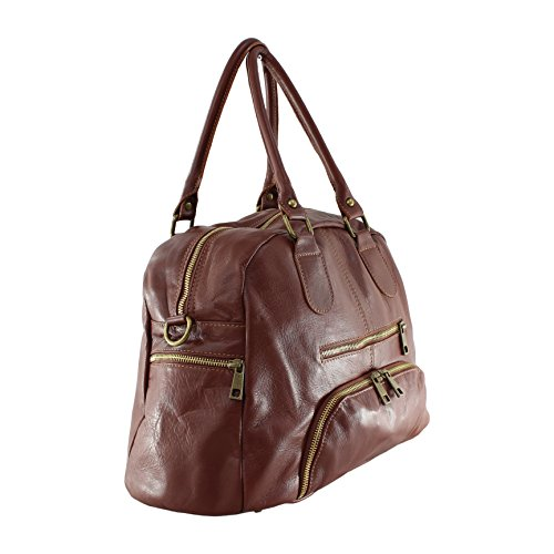 BAG cuir femme à Sac en main souple OH Marron MY A5w1qqg